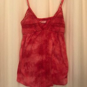 Billabong salmon pink tank top with lace